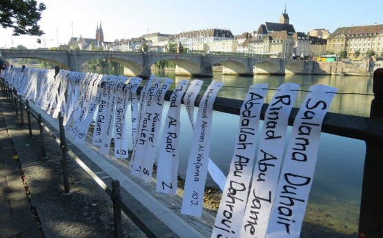 Swiss lawmakers Adri Nieuwhof 2017 Activits displayed names P children killed attack Gaza 2014